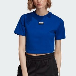 ADIDAS TAPE CROPPED TEE Size XL